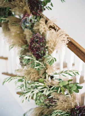 Winter Garland on Stairs