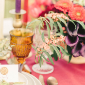 Berry and Purple Wedding Table