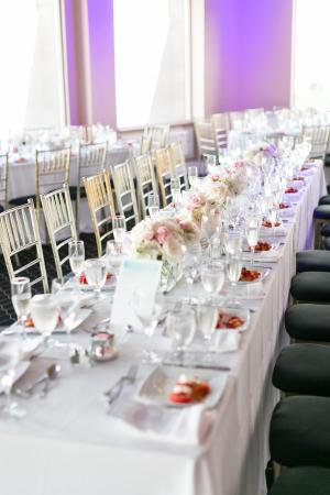 Black and White Restaurant Wedding
