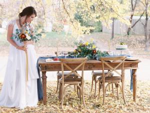 Blue and Crimson Wedding Inspiration
