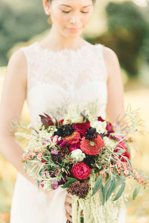 Bouquet in Rich Red Tones