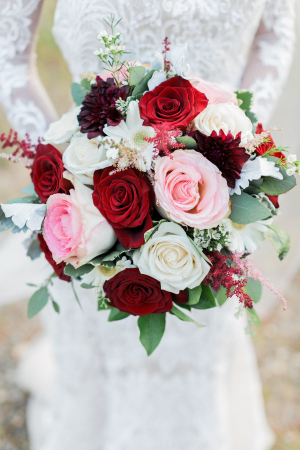 Bouquet with Pink and Red Roses