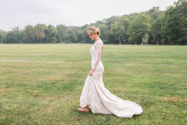 Bride in Oleg Cassini