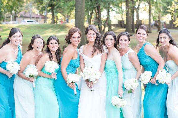 Manhattan Bridal Bridesmaid Dresses Blue Turquoise