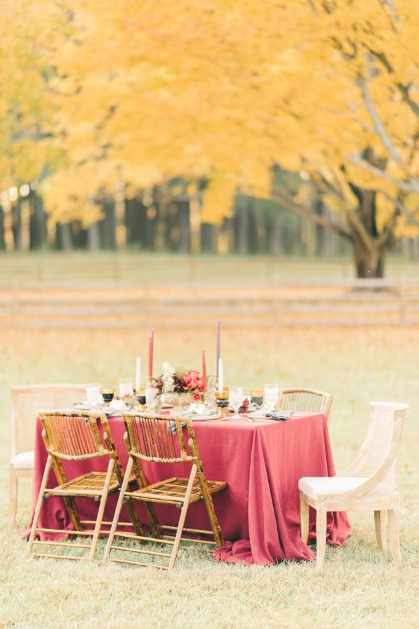 Burgundy Wedding Table