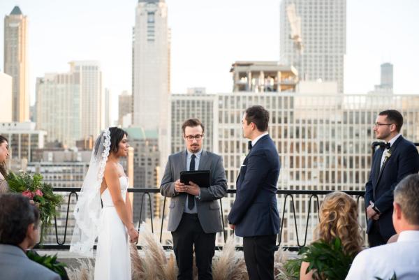 Chicago Rooftop Wedding Ceremony 3