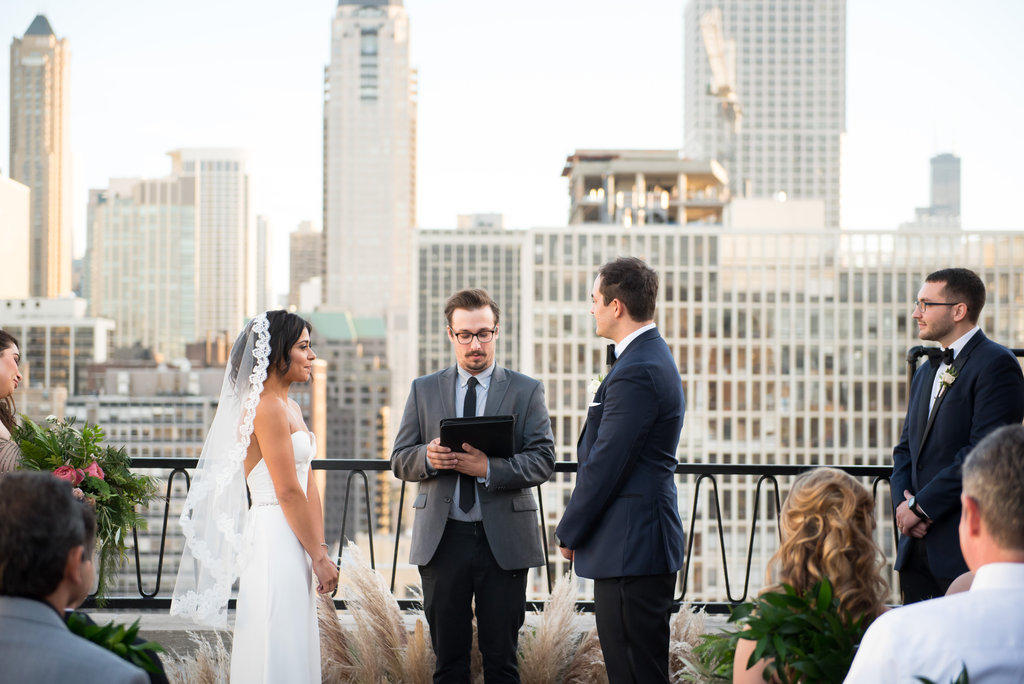 Chicago Rooftop Wedding Ceremony 3