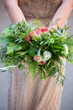 Copper Bridesmaid Dress