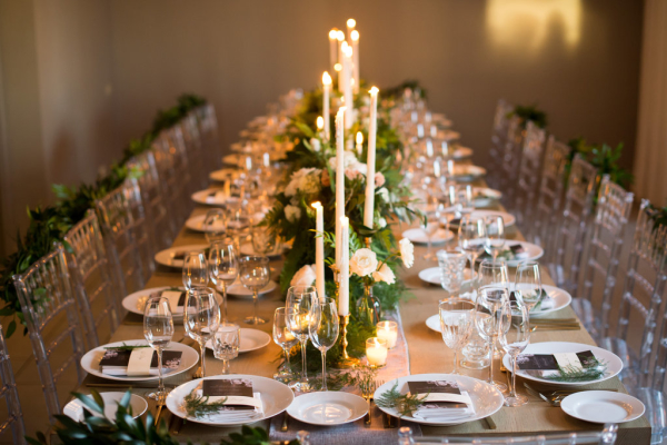 Dinner Party Style Wedding Reception