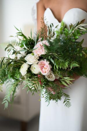 Dramatic Greenery Wedding Bouquet