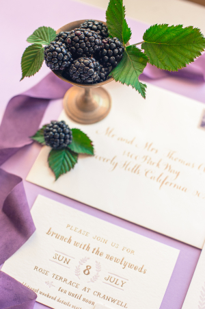 Gold Calligraphy on Wedding Invitations