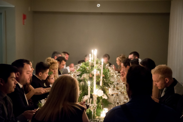 Intimate Dinner Party Reception