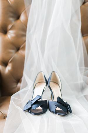 Kate Spade Black Satin Wedding Shoes