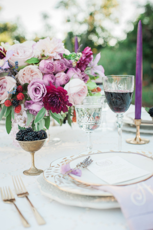 Lavender and White Wedding Table