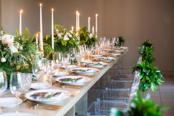 Modern Green and Gray Wedding
