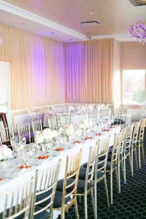 Modern White Restaurant Wedding