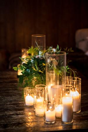Pillar Candle Wedding Decor