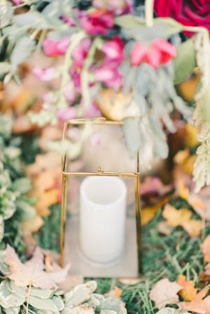 Pillar Candle in Gold Box