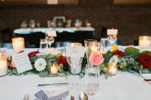Pink and Red Garland Centerpiece
