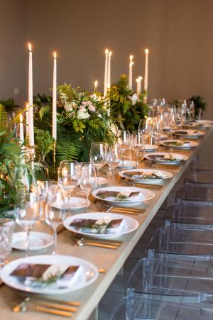 Romantic Wedding Table with Greenery