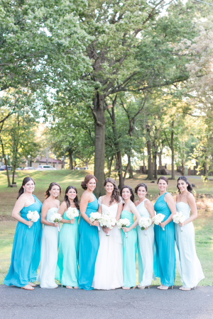 Shades of Blue for Bridesmaids