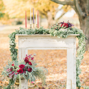 Wedding Altar with Candles