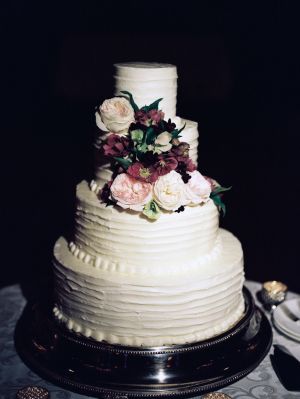 Wedding Cake with Fall Flowers