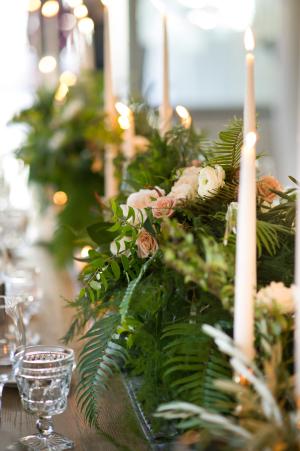 Wedding Centerpiece with Ferns