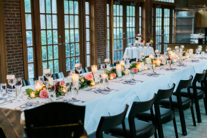 Wedding Table with Floral Garland