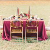 Wedding Table with Mismatched Chairs