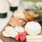 Wine and Cheese Platter at Wedding