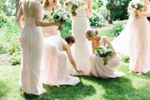 Baby Pink Bridesmaids Dresses