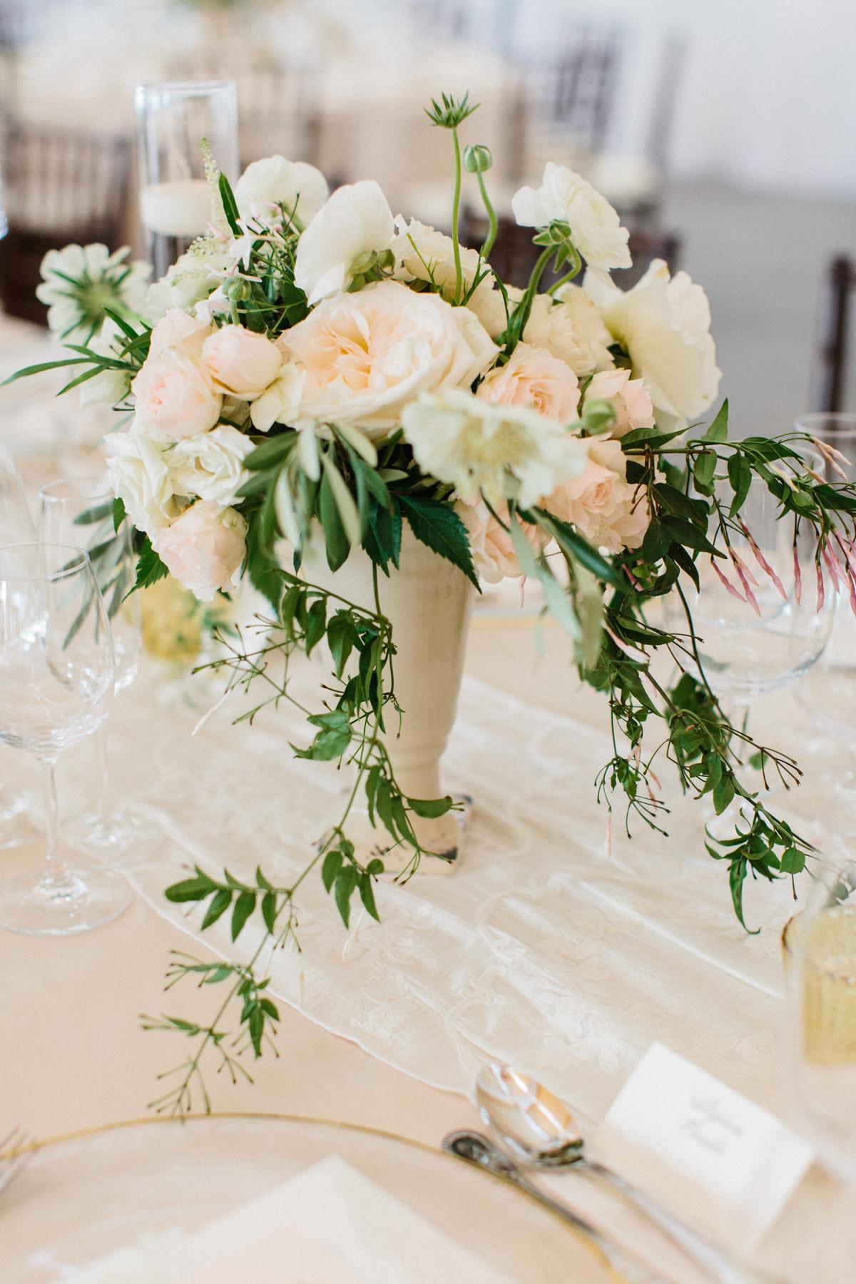 Blush Garden Rose Centerpiece