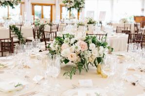 Blush and Green Wedding Reception