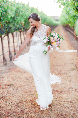 Bride in Anna Campbell