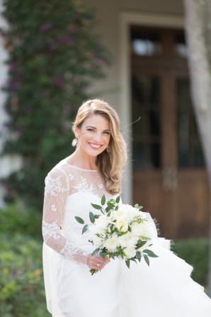 Bride in Karen Willis Holmes Gown