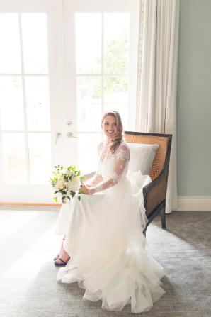 Bride in Karen Willis Holmes Separates