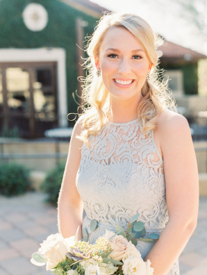 Bridesmaid in Pale Gray