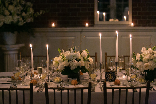 Candlelight Wedding with Ivory Flowers