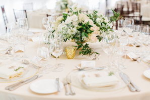 Centerpiece in Blush and Green