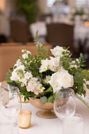 Green Ivory and Gold Centerpiece