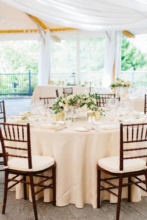 Green and Blush Wedding Reception
