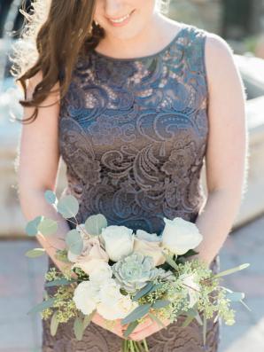 Gunmetal Bridesmaids Dress