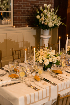 Ivory and Green Wedding Reception