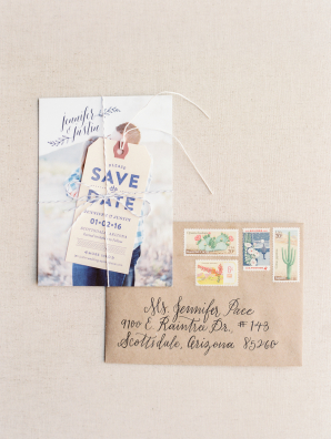 Kraft Paper Envelopes with Vintage Stamps
