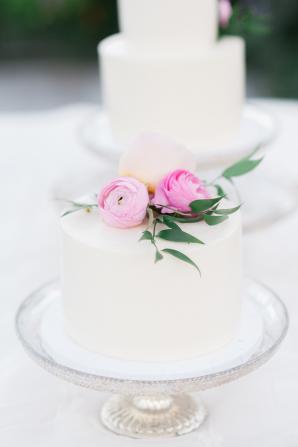 Petite White Wedding Cake