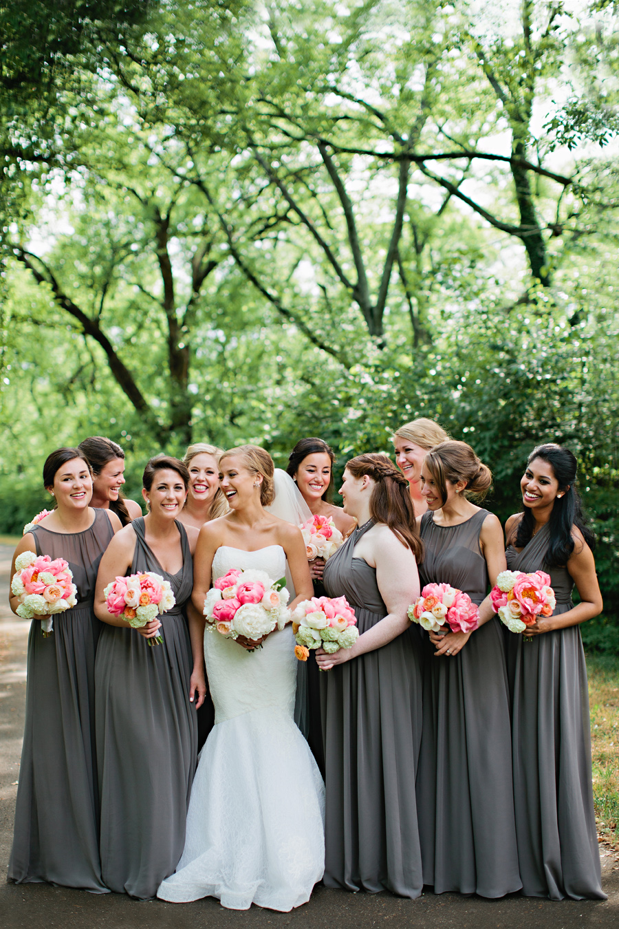 Pewter bridesmaids dresses elizabeth anne designs the wedding blog ombrellifo Gallery