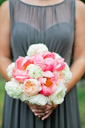 Pink Peony Bridesmaid Bouquet