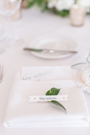 Place Card with Greenery