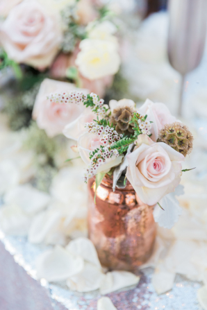 Rose and Scabiosa Pod Wedding Flowers